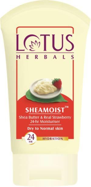 LOTUS HERBALS Pack of 3 Sheamoist 24 Hour Moisturisers