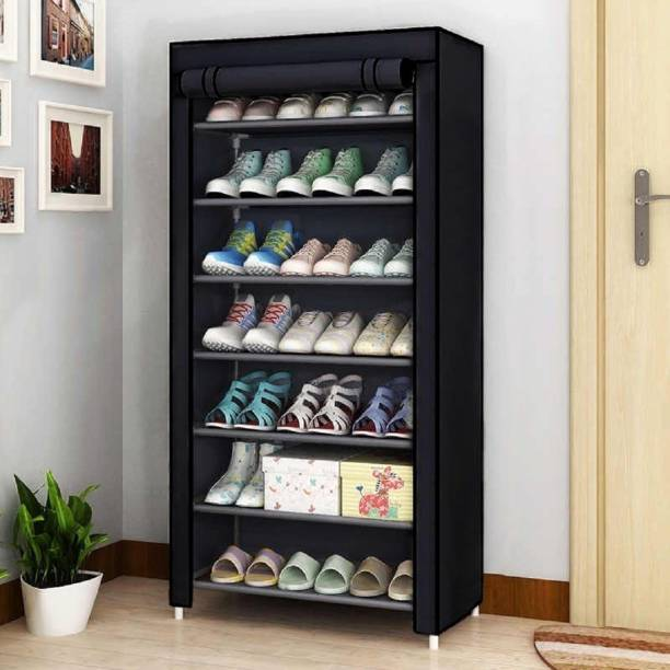 Cmerchants NextGEN Home Creative 7 layer collapsible shoe rack BLACK Metal Collapsible Shoe Stand