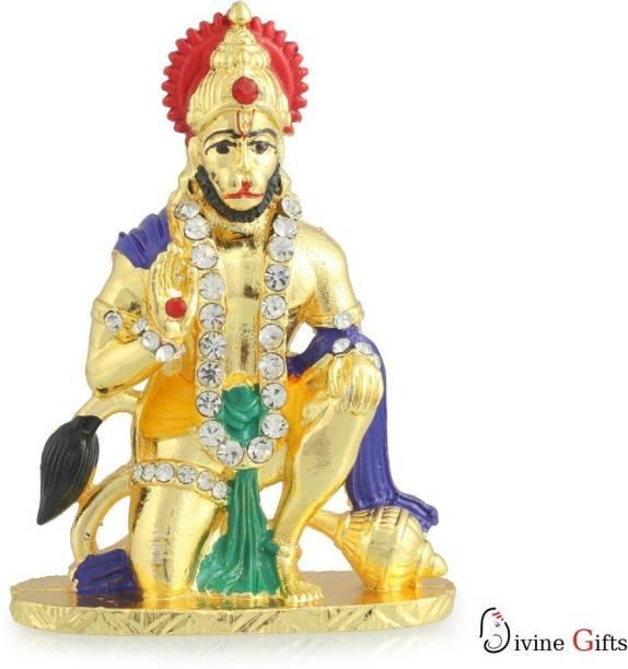 Divine Gifts & Artificial Jewellery Hanuman Aashirwad Golden Meena Prince Stand Decorative Showpiece  -  7.5 cm