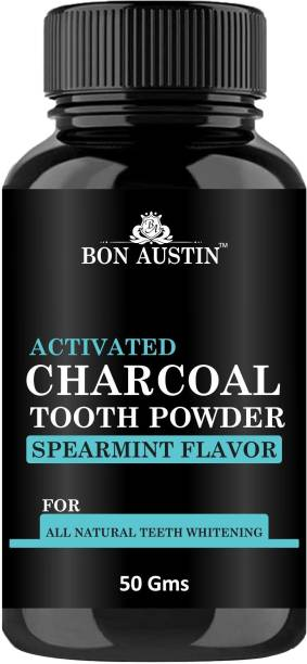 Bon Austin Premium Teeth Whitening Charcoal Powder- For instant Tooth Whitening (50 Gms)
