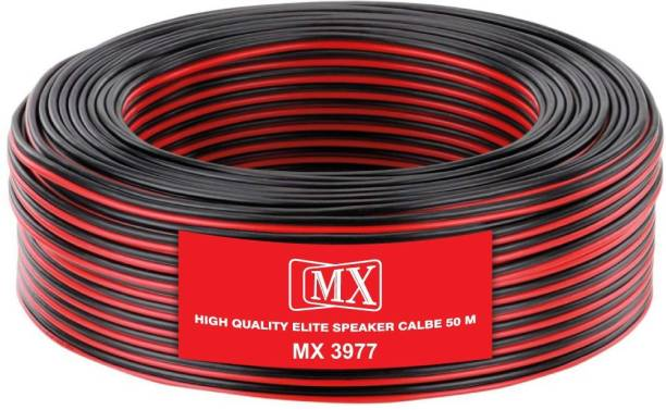 MX  TV-out Cable 165Feet -50Meters Flexible Oxygen-Free Red Black Speaker Wire Cable-3977