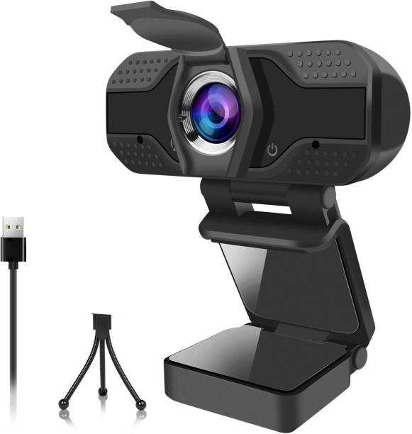 RFV1 ™HD Webcam with Microphone HD 1080P Web Camera for Video Calling Conferencing Recording PC Laptop Desktop USB Webcams Play and Plug Device No Software Installation with Flexible Tripod  Webcam