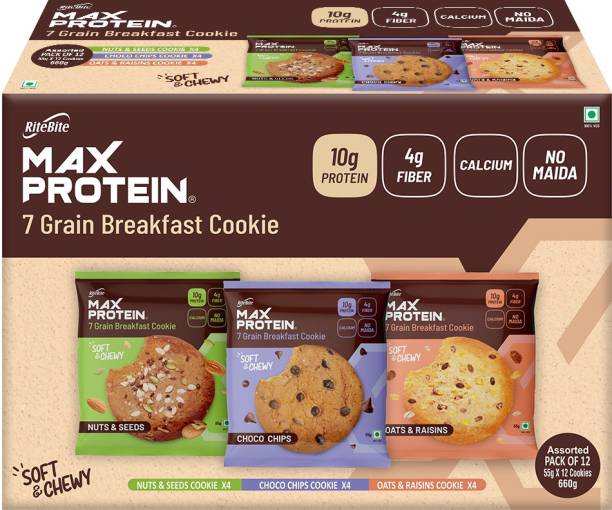 RiteBite Max Protein Cookies - Assorted