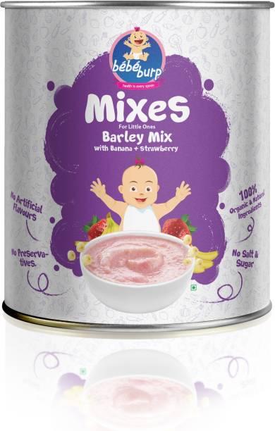 bebe burp barley mix with banana and strawberry Cereal