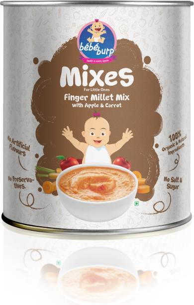bebe burp finger millet mix with apple and carrot Cereal