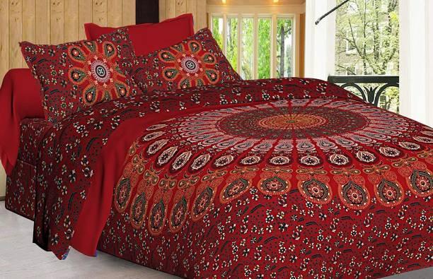 crafton 144 TC Cotton Double King Printed Bedsheet