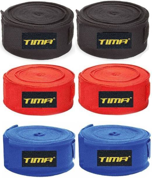 Tima Professional (3 Pair ) Boxing Hand Wrap & Hand Bandage - Imported Boxing Hand Wrap Boxing Hand Wrap