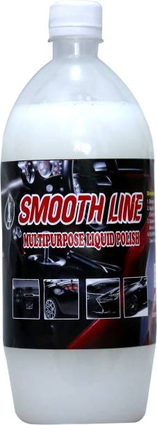 Smooth line Liquid Car Polish for Leather, Tyres, Dashboard, Metal Parts, Exterior
