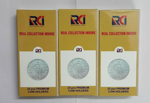 rci Coin Collecting Holders - 3 Sizes 22.5MM,25MM,27.5MM, Each size 50 Pcs Total 150 Counts Coin Bank