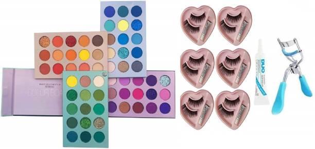 D.B.Z. Beauty Glazed Palette 60 Colors Mattes And Shimmers High Pigmented Color Board Palette Long Lasting Makeup Palette EYE CARE DEMANDING PROFESSIONAL COMBO KIT