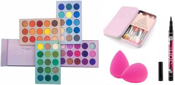 D.B.Z. Beauty Glazed Eyeshadow Palette 60 Colors Mattes And Shimmers High Pigmented Color Board Palette Long Lasting Makeup Palette PROFESSIONAL COMBO KIT
