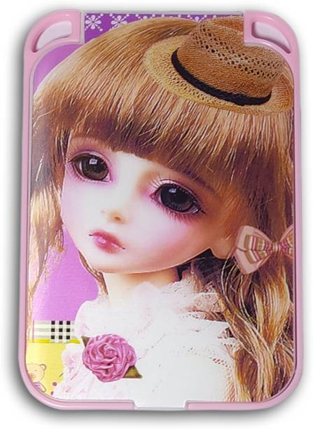 Wildplay pocket mirror in 3d doll print on front