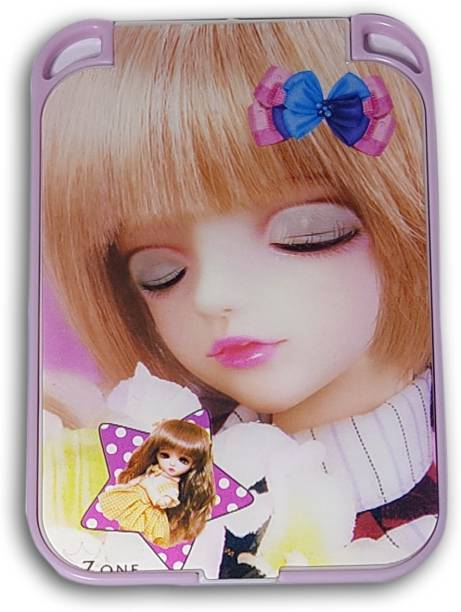 Wildplay pocket mirror with 3d doll design