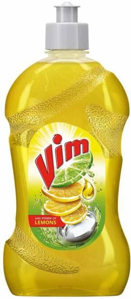 Vim Dishwash Liquid Gel Lemon, With Lemon Fragrance, Leaves No Residue, Grease Cleaner For All Utensils Dish Cleaning Gel