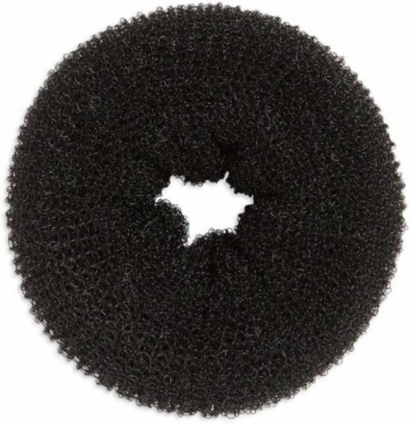 JSR Hair Donuts Accessories for Hair for Girls and Women (Black) pack of 2 Hair Accessory Set