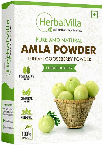 herbalvilla Amla Indian Gooseberry Powder for eating and hair growth