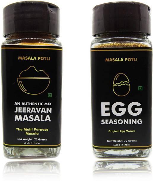 Masala Potli Pack of 2 (Indore Jeeravan Masala Powder 75 Grams, Egg Seasoning Sprinkles Masala 70 Grams)   Super Saver Combo
