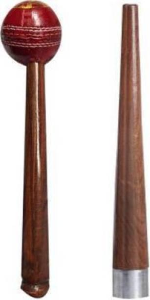 Rockjon Set of 1Cricket Bat Mallet with 1Handle Gripper Wooden Bat Mallet