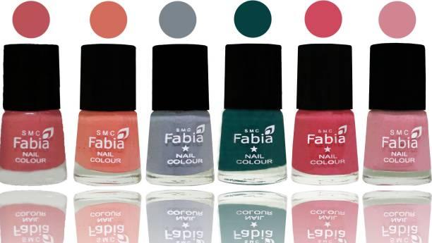Fabia Exclusive Nail Polish Bazooka Joe-Light Peach-Wild Gray Yonder-Dark Green-Shock Pink-Rose