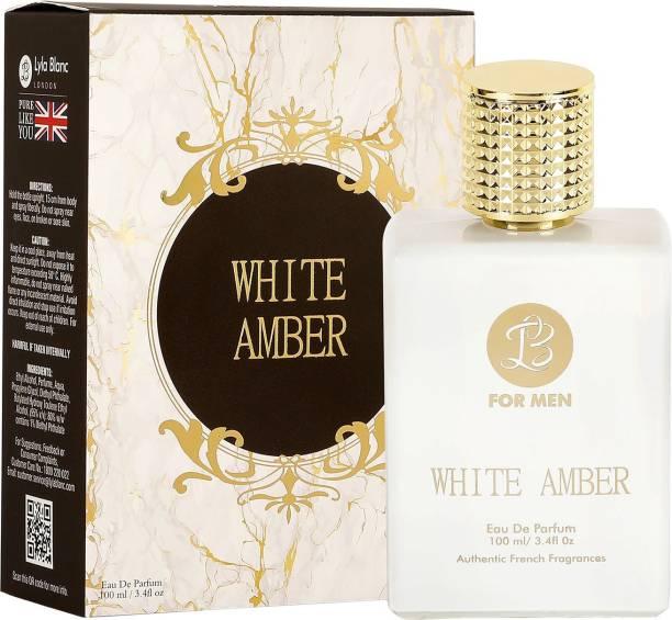 Lyla Blanc WHITE AMBER Perfume Spray for Men- 100ml Eau de Parfum  -  100 ml