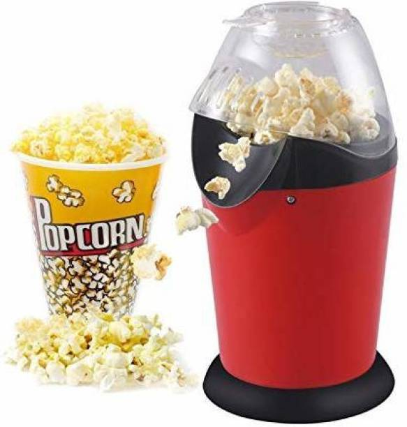 Dhami Hot Air Popcorn, Popper Electric Machine Snack Maker, with Measuring Cup and Removable Lid/Instant Popcorn Grade Aluminum Alloy Oil Free Popcorn Maker Air Popcorn 1 L Popcorn Maker