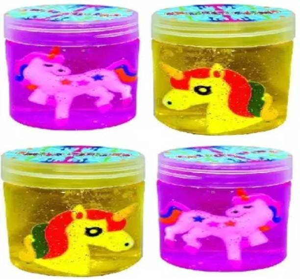 anjanaware Magic UNICORN Crystal Clear Putty Slime Jelly Clay Non-Sticky Multicolor Putty Toy