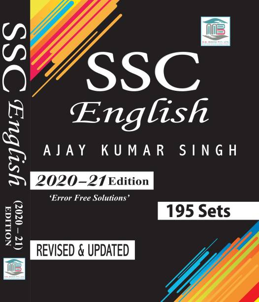 SSC English 195 Sets MB Publication 2021 Edition Latest By Ajay Kumar Singh, Bilingual