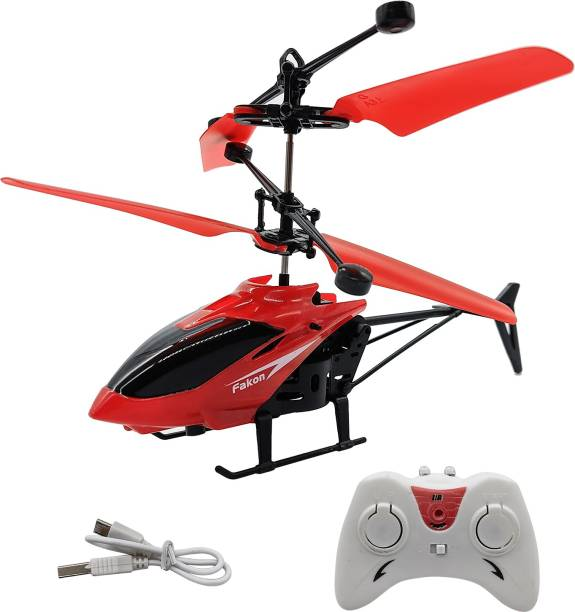NHR Infrared Induction Helicopter Hand Sensor Aircraft USB Charger 2 in 1 Flying Helicopter with Remote Control