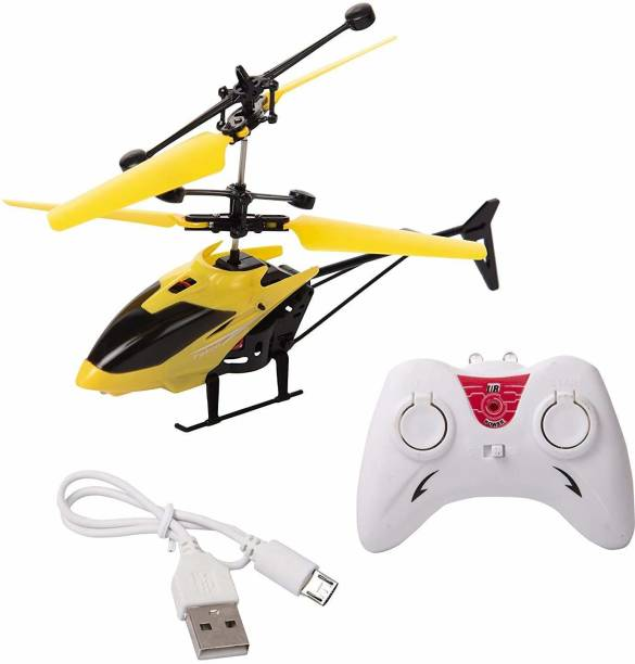 Velocious Exceed Induction Flight Electronic Radio RC Remote Control And Sensor 2 In 1 Toy Charging Helicopter Toys with 3D Light Toys for Boys Kids (Indoor Outdoor Flying)