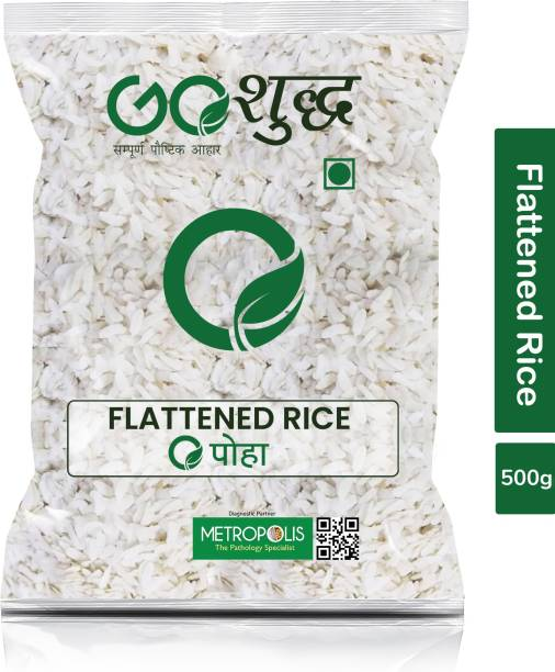 Goshudh Premium Quality Poha (Flattened Rice)-500gm (Pack Of 1) Poha
