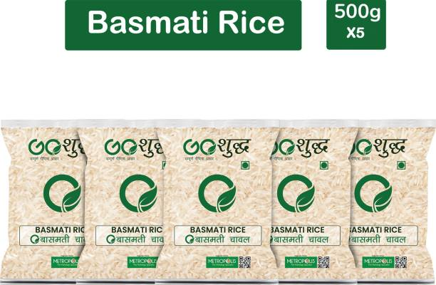 Goshudh Premium Quality Basmati Rice-500gm (Pack Of 5) Basmati Rice (Long Grain, Raw)