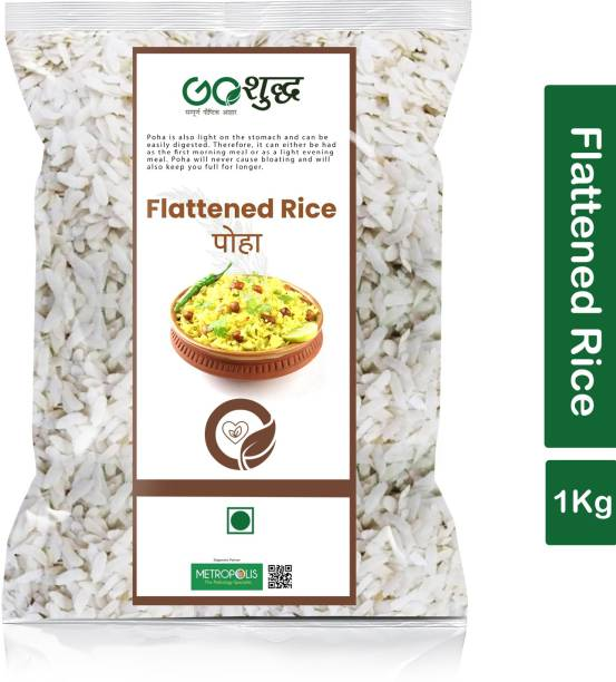 Goshudh Premium Quality Poha (Flattened Rice)-1Kg (Pack Of 1) Poha