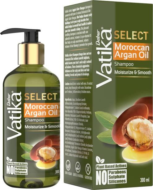 Dabur Vatika Select Moroccan Argan Oil Shampoo|Moisturize & Smooth|No Parabens, Sulphate & Silicones