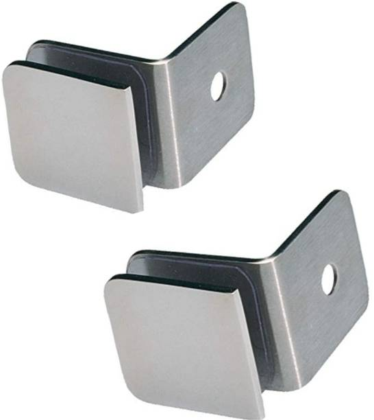 max deals L-Connector SS-304 Grade Pack of 2 Pc Wall to Glass 45 mm Shelf Bracket