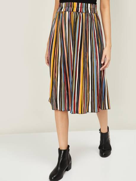 GINGER Striped Women Gathered Multicolor Skirt