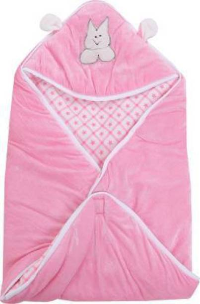 First Trend Checkered Crib Hooded Baby Sleep Sack Baby Blanket Pink Sleeping Bag
