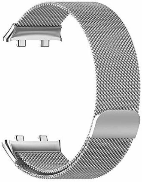 gettechgo Premium Metal Magnetic Milanese Loop Strap Band Compatible with Oppo Watch 46mm Smart Watch Strap