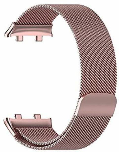 gettechgo Premium Metal Magnetic Milanese Loop Strap Band Compatible with Oppo Watch 46mm (Rose Gold) Smart Watch Strap