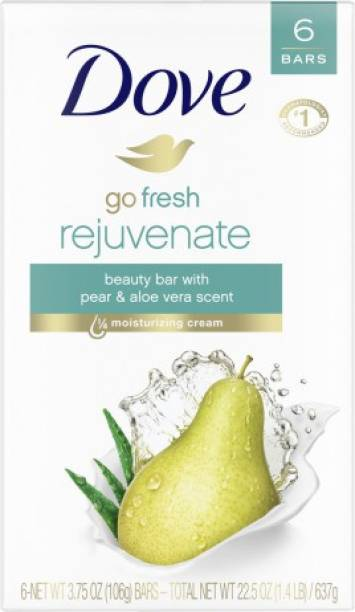 DOVE GO FRESH REJUVENATE BEAUTY BAR SOAP (106 GM) PACK OF 6
