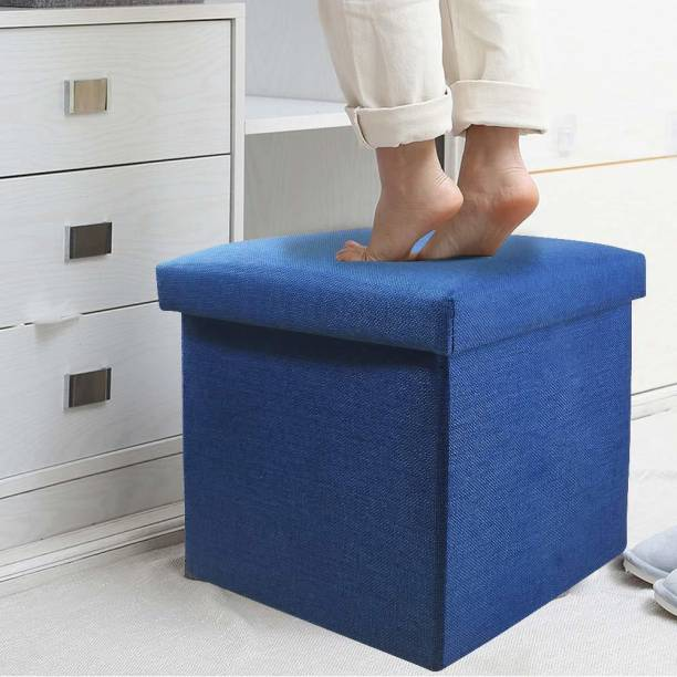 PARAMDHYEY Stools for Sitting in Living Room Storage Stools for Sitting Storage Box for Toys of Kids - Foldable Stool (38 x 38 x 38 cm) Living & Bedroom Stool
