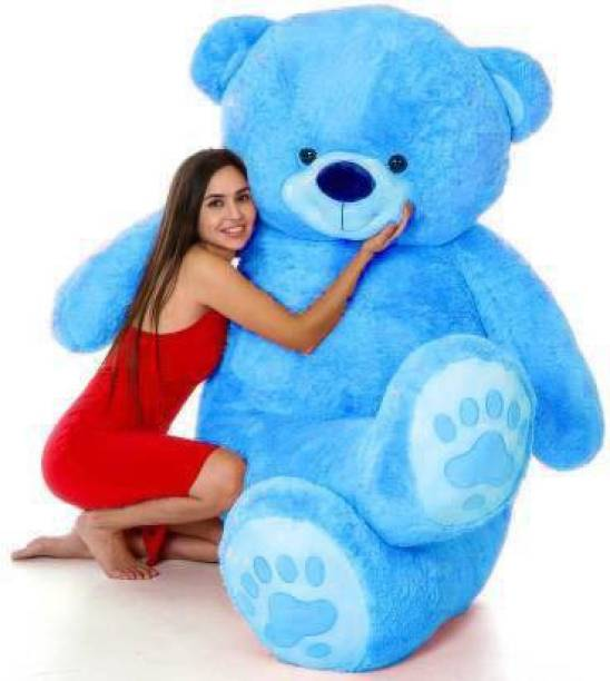 Ziraat Cute Bootsy Blue 122 Cm 4 feet Huggable And Loveable For Someone Special  Teddy Bear  - 122 cm