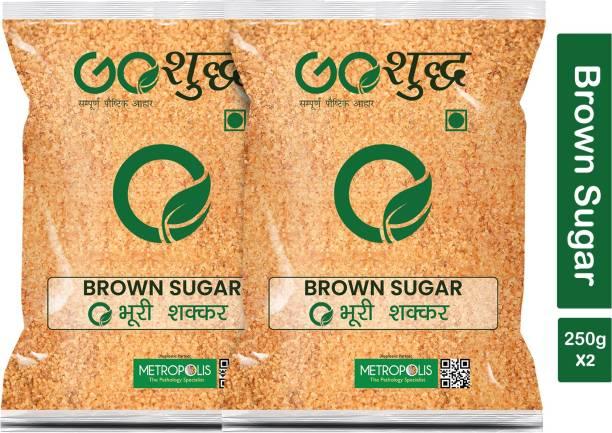 Goshudh Premium Quality Brown Sugar-250gm (Pack Of 2) Sugar