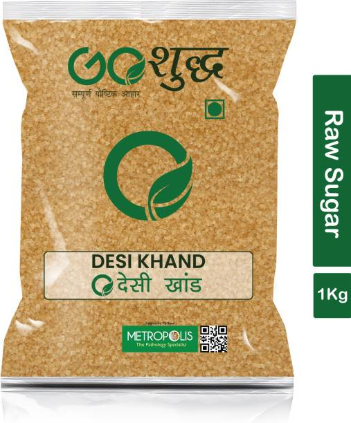 Goshudh Premium Quality Desi Khand (Raw Sugar)-1Kg (Pack Of 1) Sugar