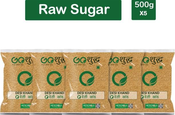 Goshudh Premium Quality Desi Khand (Raw Sugar)-500gm (Pack Of 5) Sugar