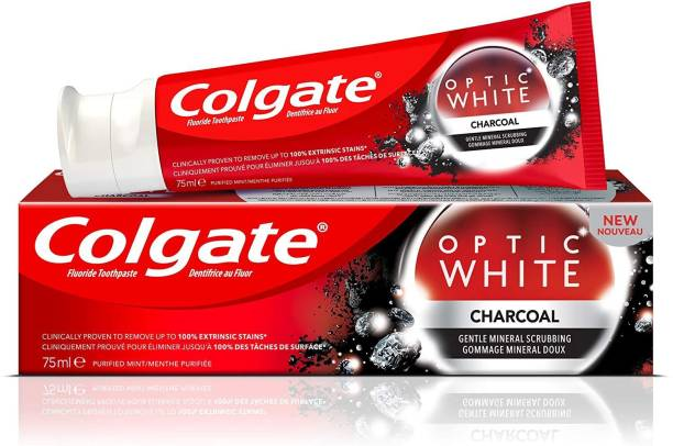 Colgate Optic White Charcoal Imported 75 ml (100g) Toothpaste