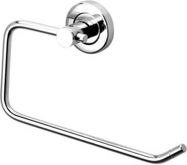 FINGERTIP Stainless Steel Towel holder Pack of 1 Silver Towel Holder (Stainless Steel) SILVER Towel Holder