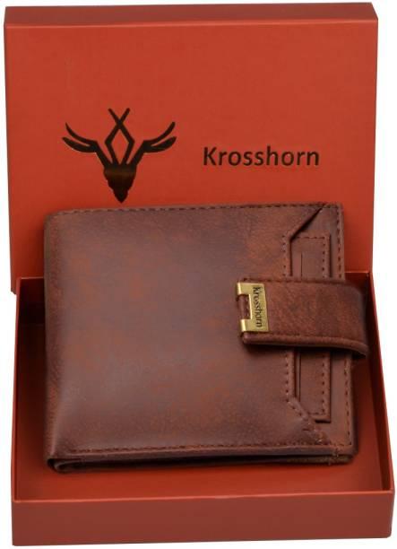 Krosshorn Men Brown Artificial Leather Wallet