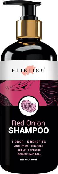 ELIBLISS Red Onion Hair Shampoo, With 27 Hair Boosters Controls Hair Loss & Promotes Healthy Hair Growth Men & Women