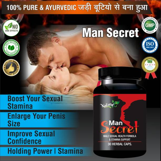 Natural Man Secret Ayurvedic Supplement For Men's Health Care 100% Herbal