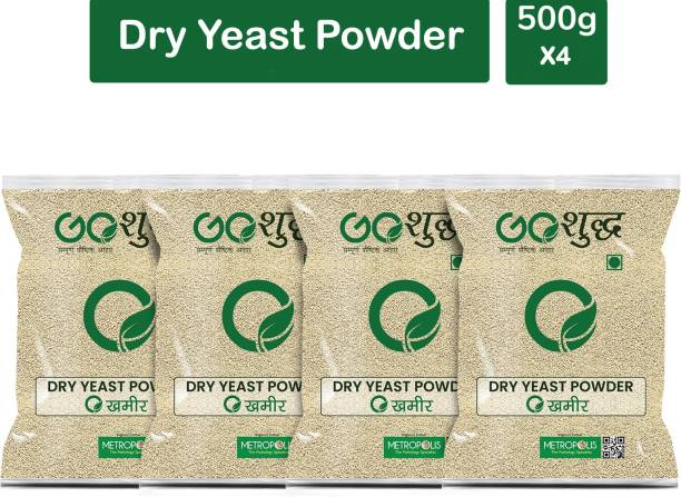 Goshudh Premium Quality Khameer (Dry Yeast)-500gm (Pack Of 4) Yeast Powder